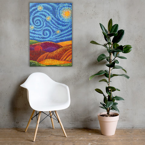 Grounding Hills Printed Canvas
