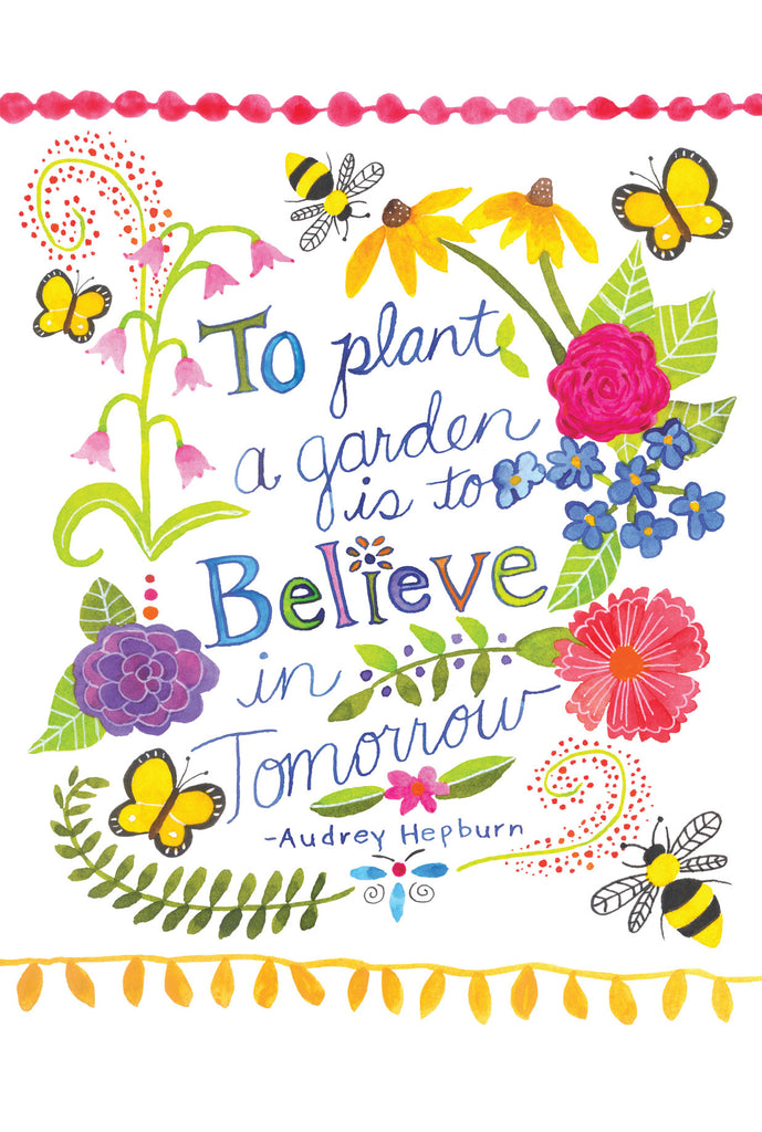 Plant a garden is to believe - postcard