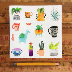 Plants and Teacups stickers