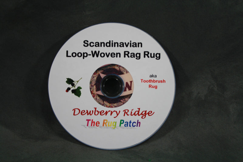 DVD - Toothbrush Rug (Scandinavian Loop Rug) Technique--FREE SHIPPING