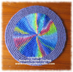 Peg Loom Chart for Weaving a Circle