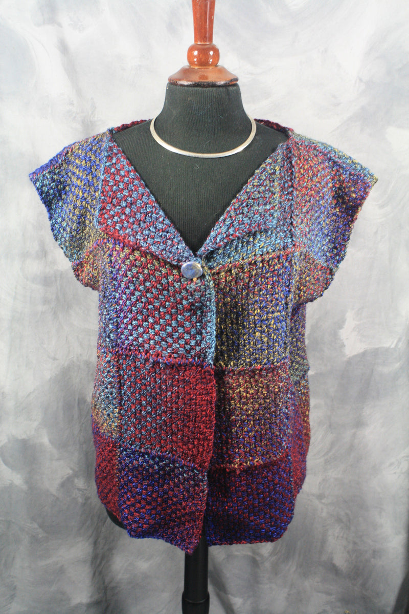 Ladies Vest with the Potholder Loom