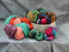 Hand Painted and Dyed Yarns