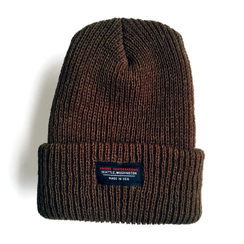 """Made in USA"" Beanie Olive"