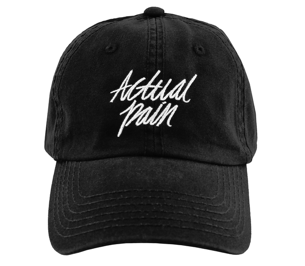 Script Logo // Black // Unstructured Twill Hat