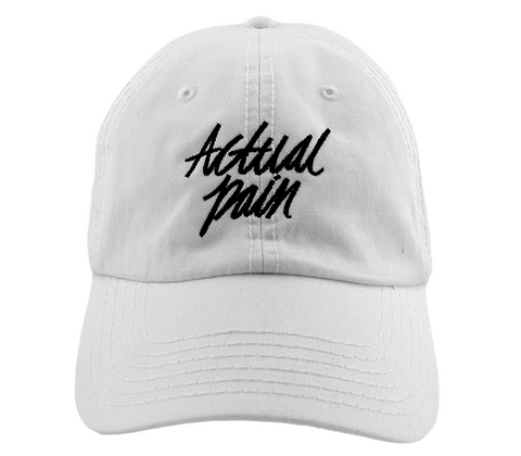 Script Logo // White // Unstructured Twill Hat