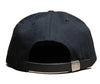 Giza A Logo // Black on Black // Leather and Duck Cloth Hat