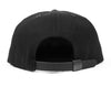 A.P. Logo // Black on Black // Leather and Organic Duck Cloth Hat