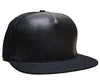 Blank Leather and Duck Cloth Hat // Black on Black