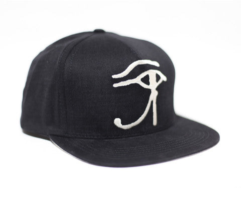Eye Of Horus // Cream on Black // Hat