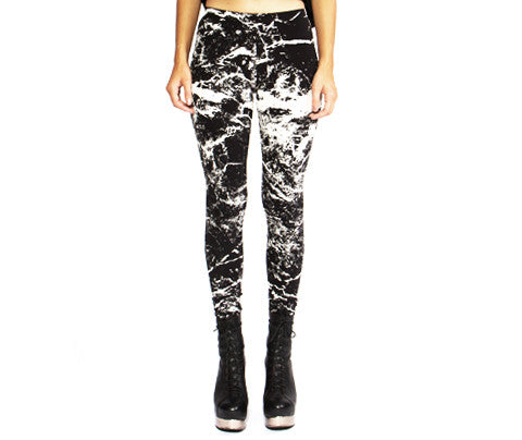 Marble // Leggings // Black