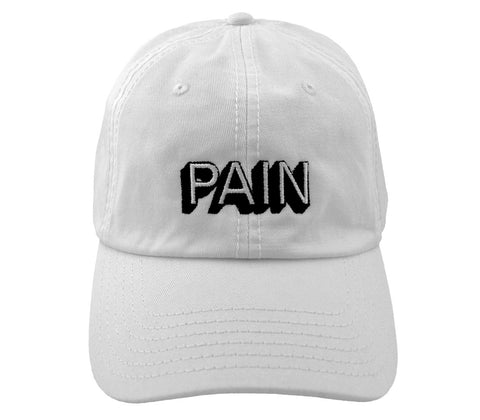 Pain // White // Unstructured Twill Hat