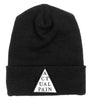 Pyramid Logo // White Patch // Knit Hat