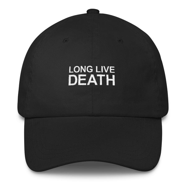 LONG LIVE DEATH // UNSTRUCTERED TWILL HAT