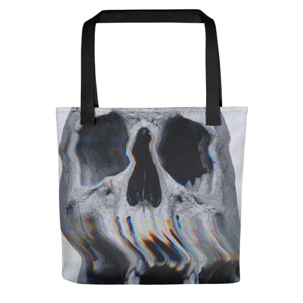 Wavy Skull // All Over Printed Tote Bag