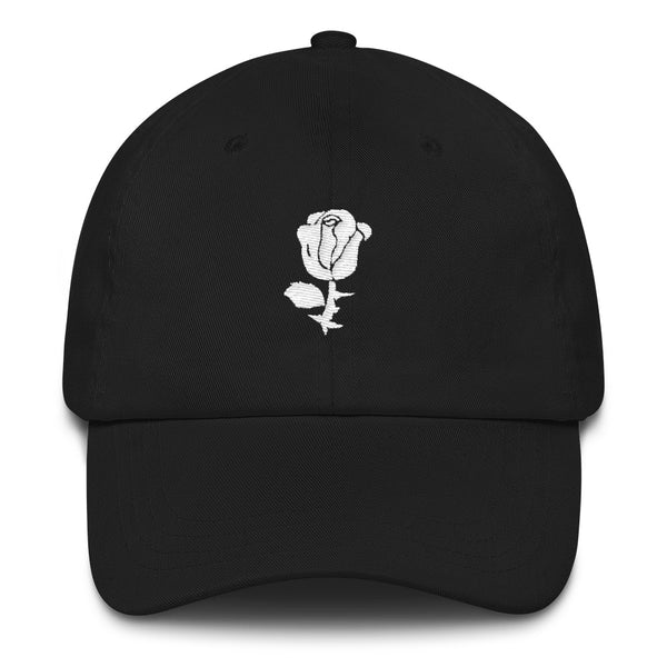 white rose // UNSTRUCTERED TWILL HAT