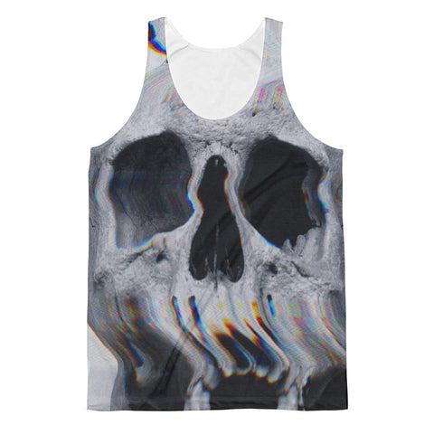 Wavy Skull // All Over Printed Tank Top