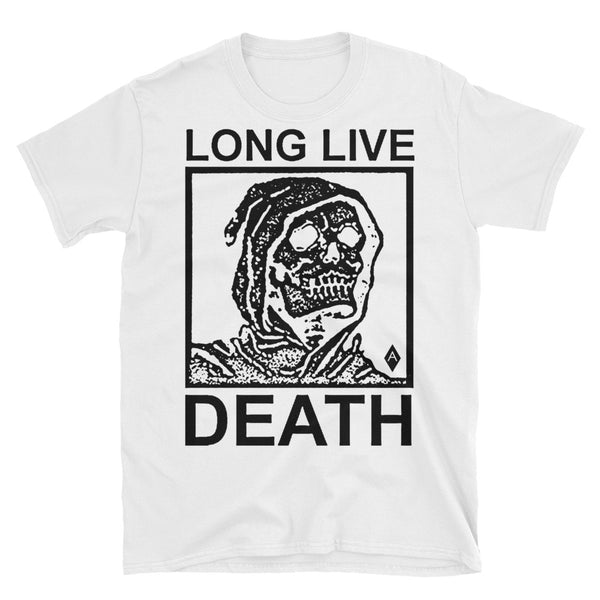 Long Live Death // Unisex White Tee