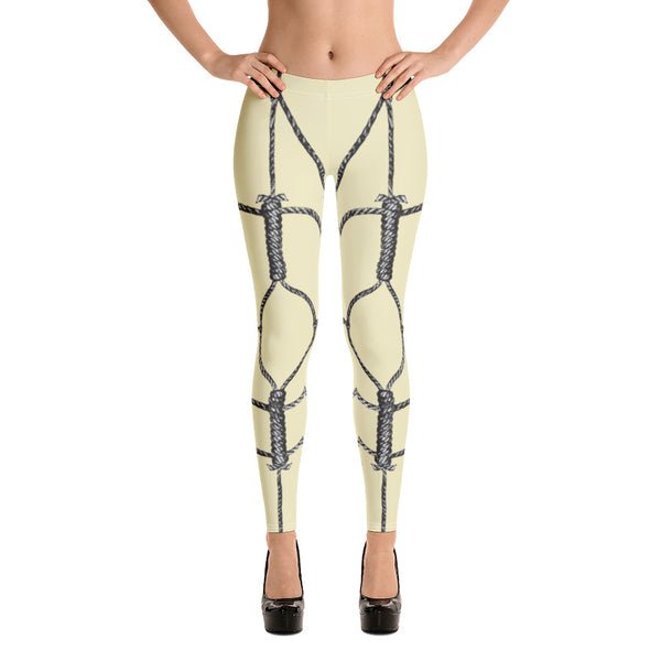 Bondage Leggings // Cream