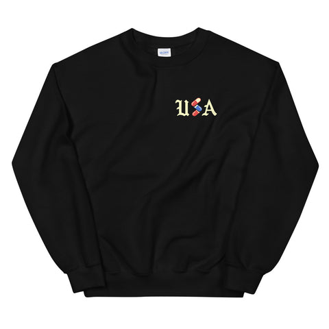 United States of Anxiety // Black // Crewneck Sweatshirt