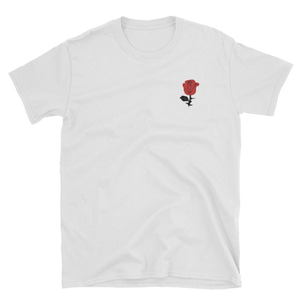 Embroidered Rose // Short-Sleeve Unisex T-Shirt