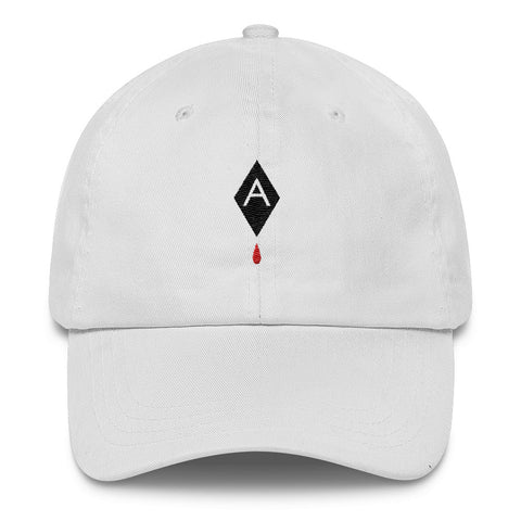 Diamond Blood Drop // UNSTRUCTERED TWILL HAT