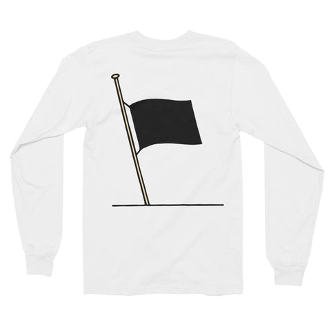 Half Mast // White // Long Sleeve Tee