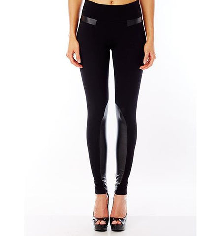 Nolita Legging with Eco Leather Detail