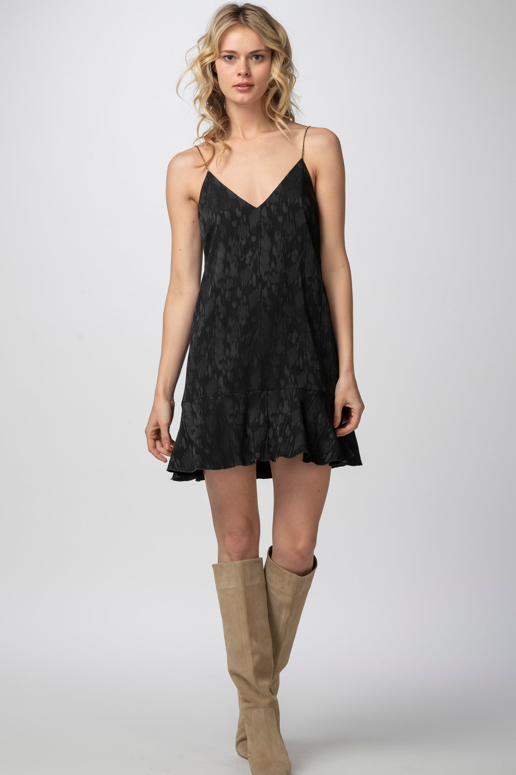 Isabelle Ruffle Dress, Black