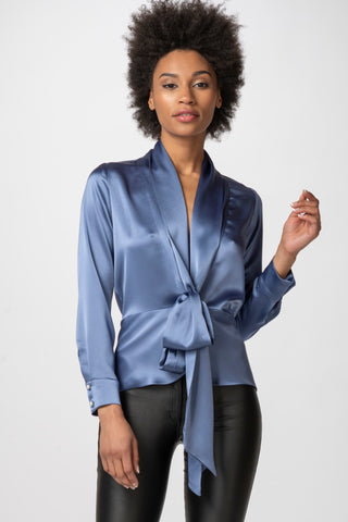 Vionette Top, Cornflower Blue