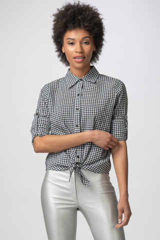 Cabana Blouse, Gingham