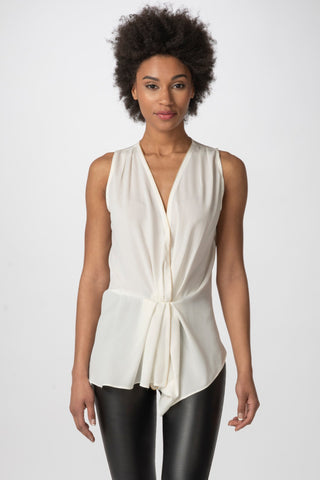 Maria Zipper Top, Ivory