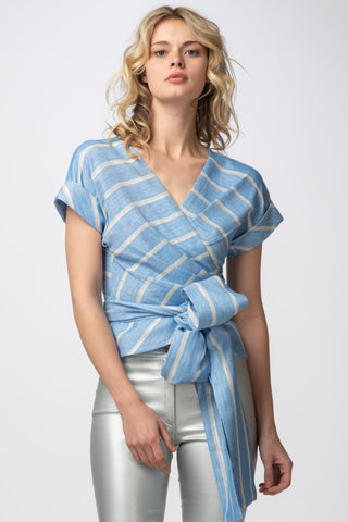 Soigné Top, Lurex Stripe