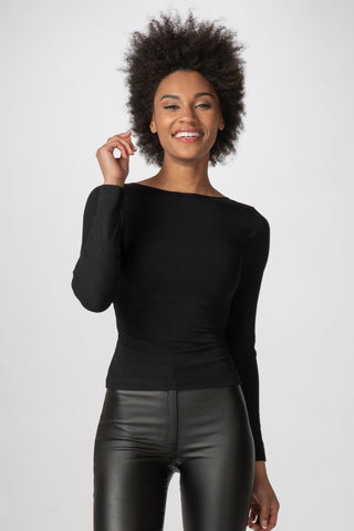 Criss-Cross Reversible Top, Black