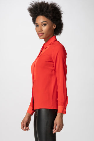 Bib Blouse, Red