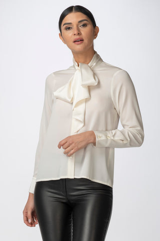 Corbata Button-Down Blouse, Ivory