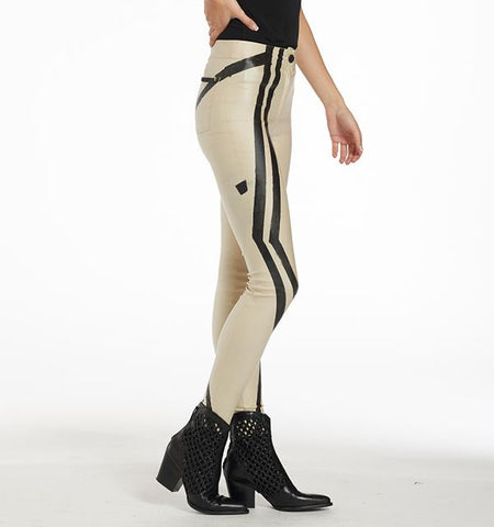 BA Painted Waxed Pants, Graphic Cream