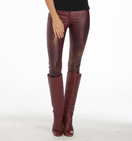 BA Painted Waxed Pants, Garnet