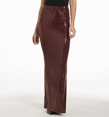 Varon Long Paillette Skirt