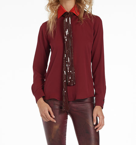 Gustavia Two-Tone Blouse