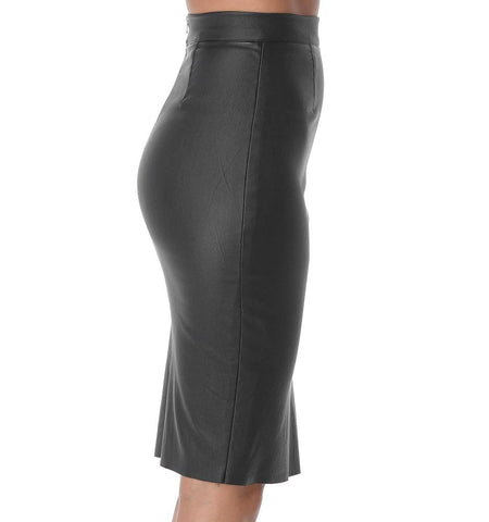 BA Waxed Pencil Skirt