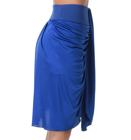 Brava Draped Skirt, Electric Blue