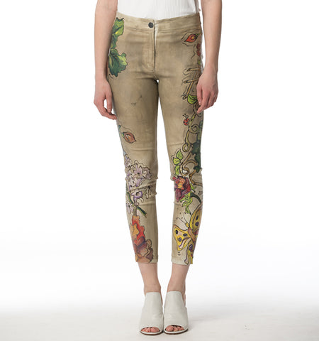 BA Painted Waxed Pants, Floralscape