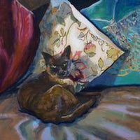 Burmese Cat - Acrylic on Cradled Timber (30.5cm x 30.5cm x 1.5cm)