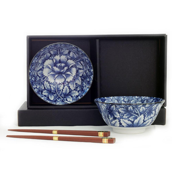 2 Bowl & Chopsticks Set - Botan