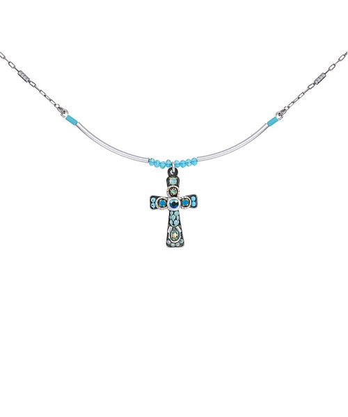 Ayala Bar Cross - Torquoise Pendant C5020