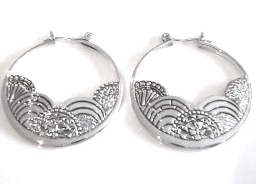 Silver Waves Earrings