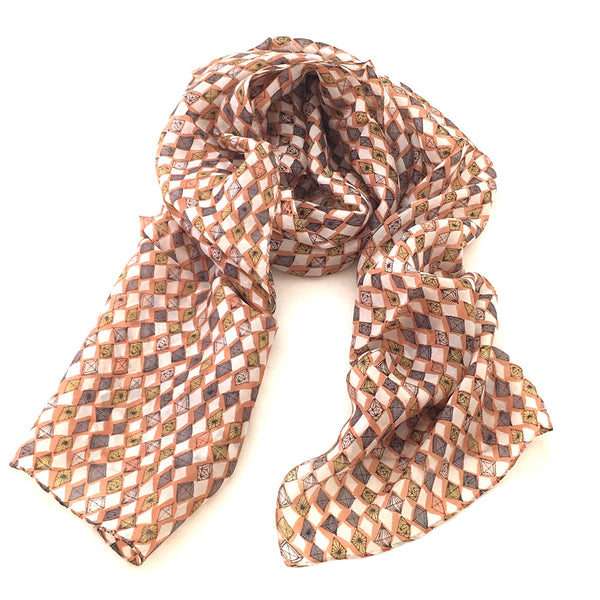 Pure Silk Scarf - Diamonds
