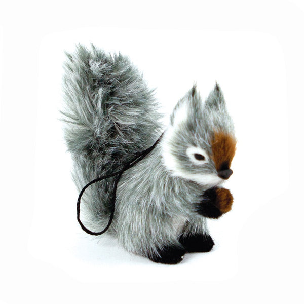 Fluffy Squirrel Decoration - Grey