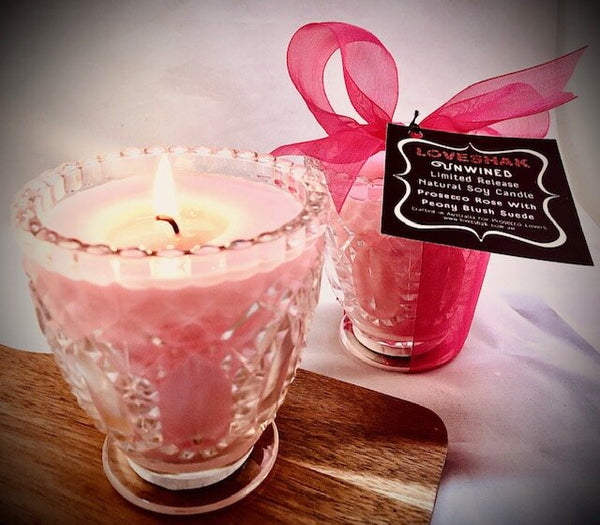 Prosecco Rose with Peony Blush Suede Candle